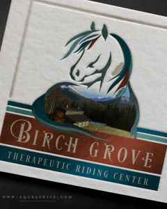 Digital Painting Logo of Alaskan Therapeutic Riding Stable Steals Show In Card Designs
