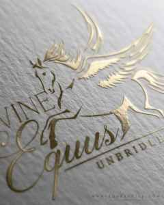 Elegant Pegasus Logo Invites Those in Need to Equine Assisted Therapy Center