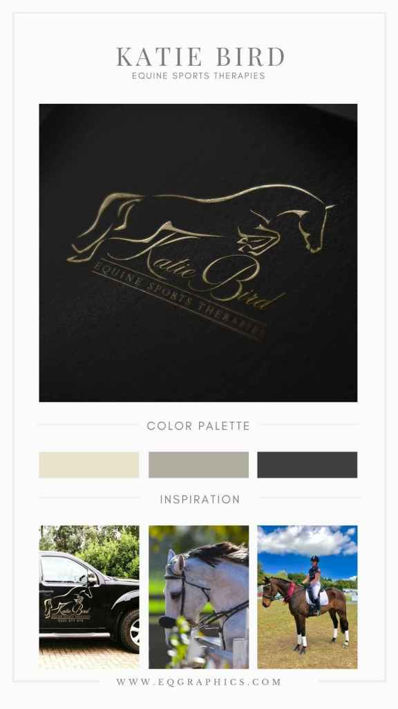 Handwriting Inspired Jumping Horse Outline Graces Simple Calligraphy