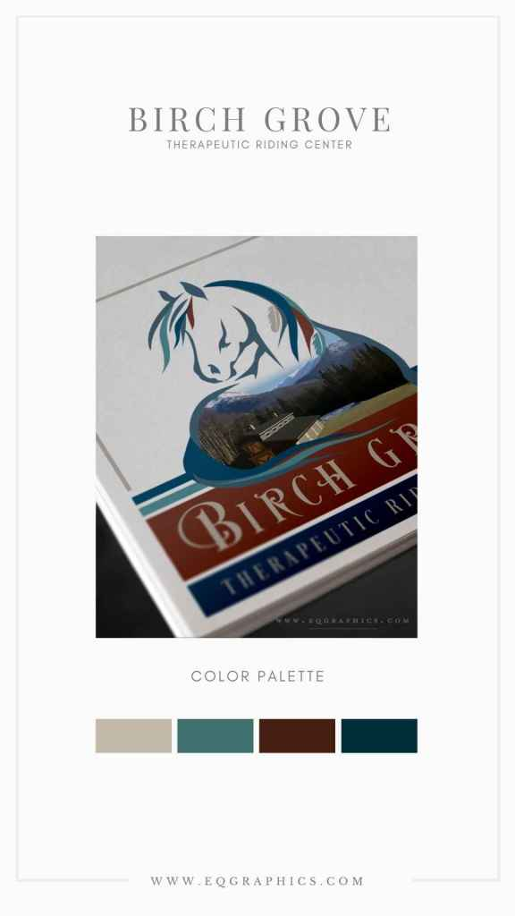 Mountain Color Palette for Striking Native American Horse & Digital Painting Logo