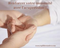 acupression immunité