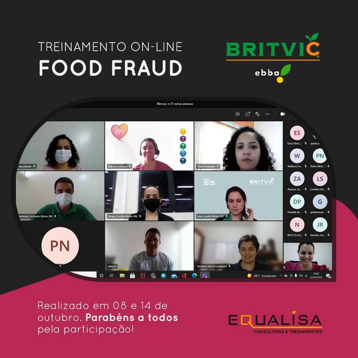 Treinamento on-line de FOOD FRAUD