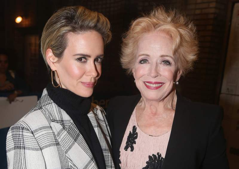 Female Celebrities who Left Their Men for Women - Sarah Paulson and Holland Taylor