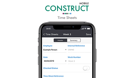Eque2 Launch Mobile Time Sheets App for Construct for Sage