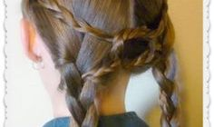 A lovely braid hairstyle for the show ring