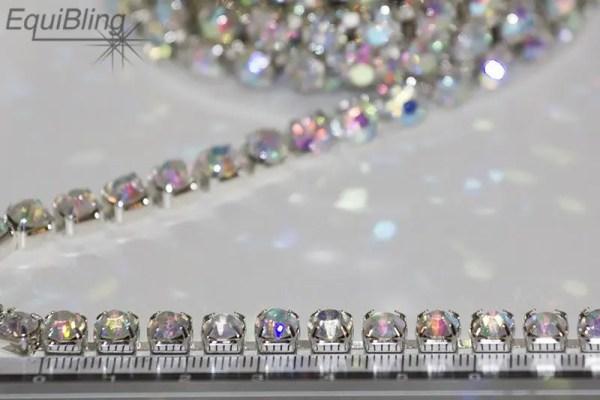 6mm strassketting crystalAB
