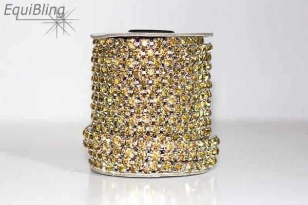 6mm strassketting goud
