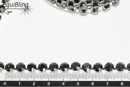 6mm strassketting hematite