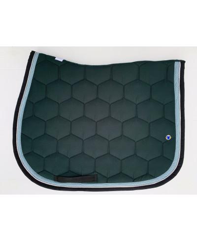 tapis vert foret noir et vichy