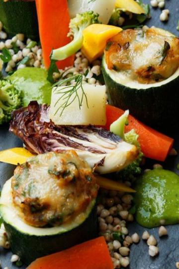 Courgette farcie aux légumes d'été