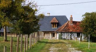 Normandie – secteur Crèvecoeur en Auge – propriété équestre
