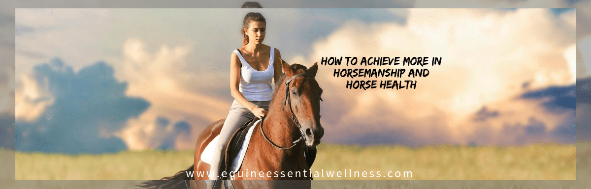 How to Achieve the Results You Desire in Your Horse's Health and Horsemanship