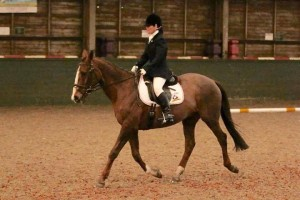 Daffyd competing at a local dressage competition