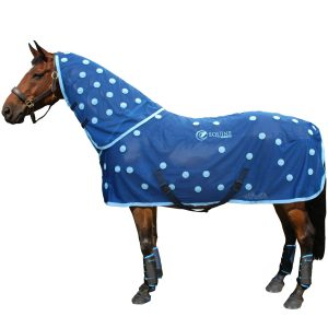 Magnetic horse rug in cyan by Equine Magnetix