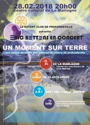 Eric BETTENS en concert le 28/02 @ La Marlagne