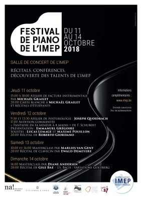 Festival de Piano du 11 au 14/10 de l' IMEP