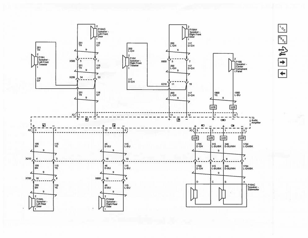 subwoofer wiring diagram for equinox