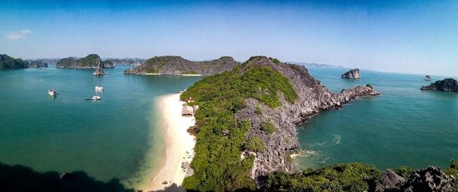 Halong Bay desde el mirador de Monkey Island