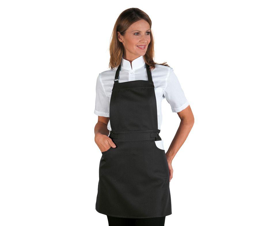 Delantal peto ajustable para camarera delantal camarera isacco ischia - Zapatos camarera antideslizantes ...