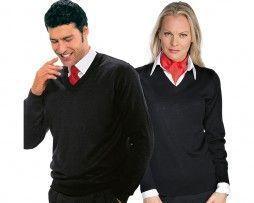 isacco-jersey-unisex-negro-sanitario-camarero-recepcionista