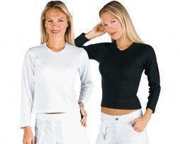 camiseta-mujer-ajustada-manga-larga-isacco