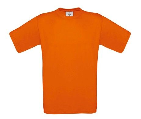 camiseta manga corta hombre naranja