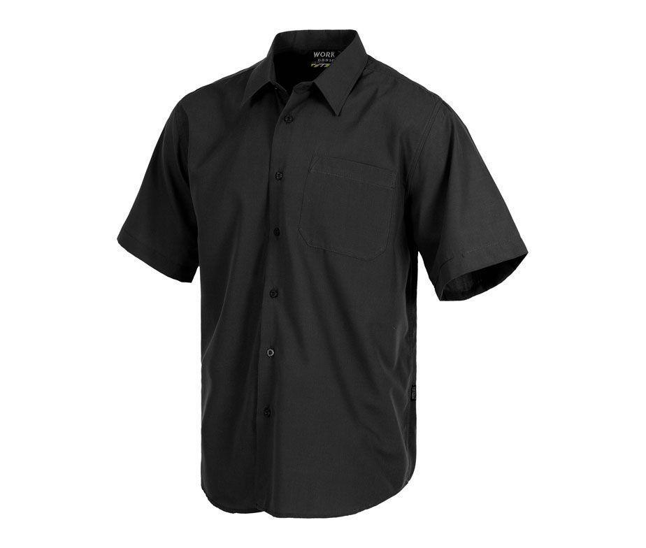camisa de trabajo en manga corta con bolsillo camisa