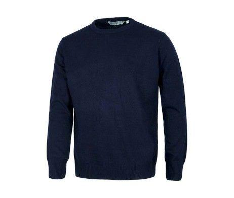 Jersey cuello redondo color azul marino