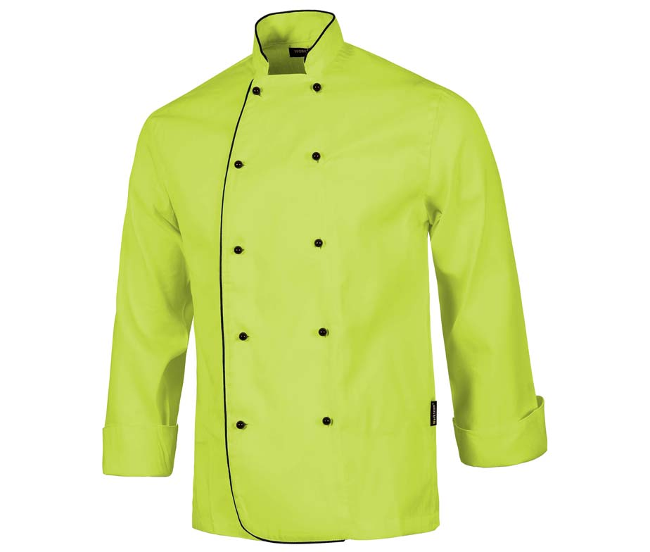 Casaca cocina con botones de seguridad casaca cocina workteam for Chaquetas de cocina originales