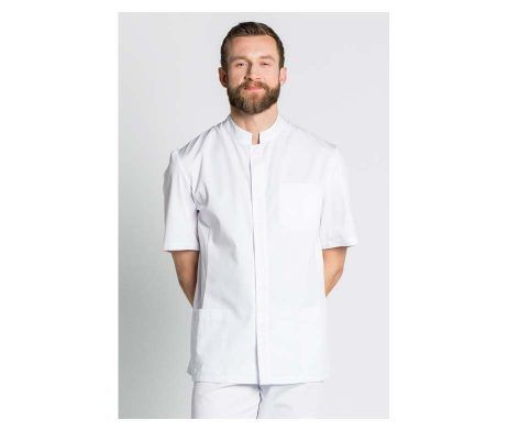 chaqueta blanca manga corta hombre y caballeros elegante y moderna