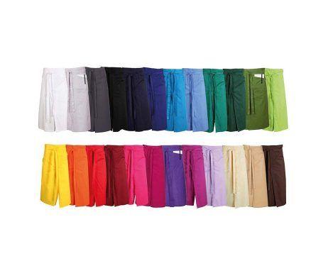 delantal frances largo colores con corte central abierto