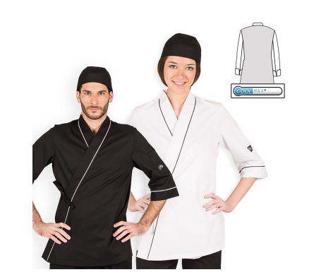 casaca cocinero oriental wok kimono