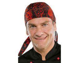 bandana cocinero original y divertida calaveras moderna