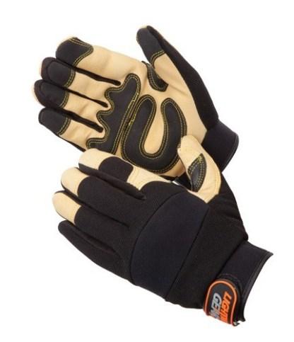 0913 GoldenKnight Premium Leather Mechanics Glove, Pair