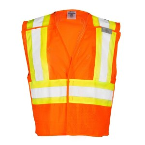 ML Kishigo 1176 Contrasting Mesh Breakaway Orange Vest