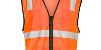 ML Kishigo 1192 6 Pocket Zipper Mesh Orange Vest