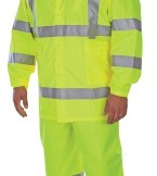 1350 Class 3  3-Piece Hi-Viz Lime Green Rainsuit
