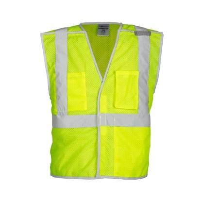 ML Kishigo 1505B Premium Brilliant Series Lime Breakaway Vest