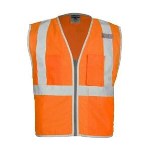 ML Kishigo 1508 Brilliant Series 3 Pocket Zipper Mesh Orange Vest