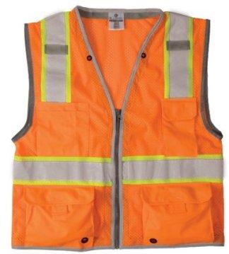 1511 ML Kishigo - Brilliant Series Orange Class 2 Heavy Duty Safety Vest