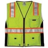 ML Kishigo 1513 Black Series Heavy Duty Class 2 Yellow/Lime Safety Vest