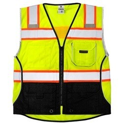 ML Kishigo 1515 Black Series Black Bottom Class 2 Lime Safety Vest