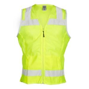ML Kishigo 1525 Ladies Mesh Lime Vest