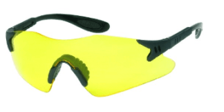 INOX 1738A Dasher Amber Lens Black Frame