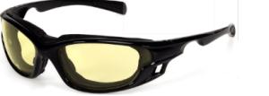INOX 1773A/AF Gazer Amber Lens (anti-fog) with Black Frame