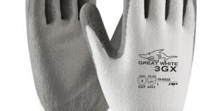 PIP 19-D322 Great White 3GX Glove, Dyneema Diamond Shell, Gray, PU Coating, Dozen