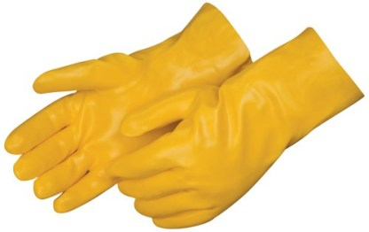 Liberty Gloves 2334 Smooth Finish Yellow PVC  Glove with 14 inch Gauntlet, Dozen