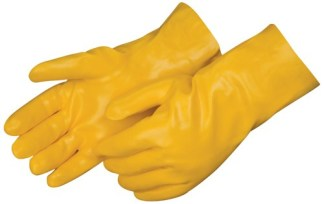 Liberty Gloves 2333JL Smooth Finish Yellow PVC Glove with 12 inch Gauntlet, Dozen