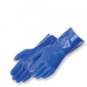Liberty Gloves 2723BL Sandy Finish Blue PVC Glove with 12 inch Gauntlet, Dozen