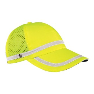 ML Kishigo 2854 Reflective Lime Baseball Cap